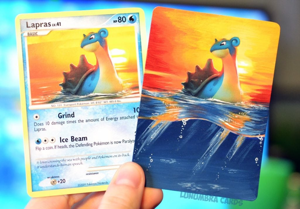 Artist Turns Pokemon Cards into Masterpieces