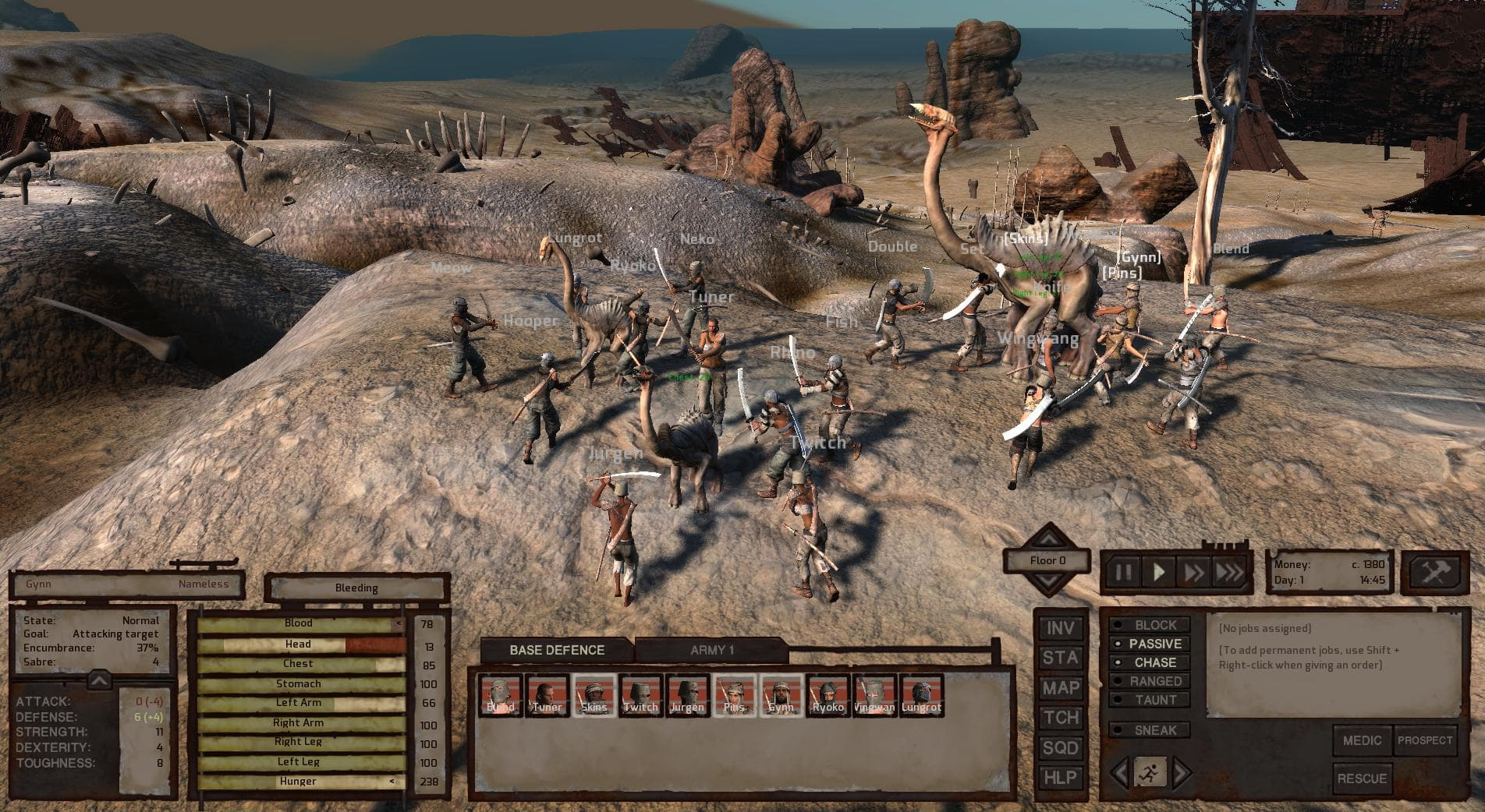 Kenshi fight training